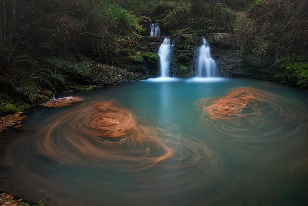 Cascadas de Lamiña en Ruente o Ursula